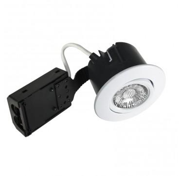 Nordtronic Quick Install indoor LED GU10 5W 2700K - Mat hvid, Rund. 5704629014350 1435
