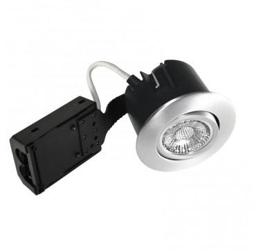 Nordtronic Quick Install indoor LED GU10 5W 2700K - Børstet alu, Rund. 5704629014329 1432