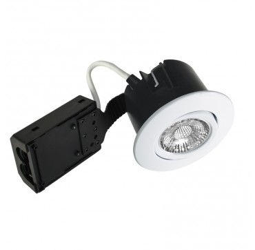 Nordtronic Quick Install indoor LED GU10 5W 2700K - Blank hvid, Rund. 5704629014312 1431