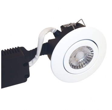 Nordtronic Low Profile downlight indoor LED 8W GU5,3 2700K - Mat hvid, Rund. 5704629017614 1761