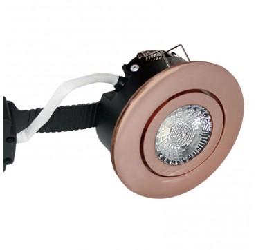 Nordtronic Low Profile downlight indoor LED 8W GU5,3  4000K - Kobber, Rund. 5704629017887 1788